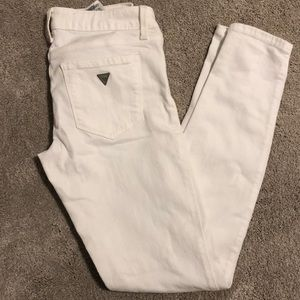 White womens guess jeans